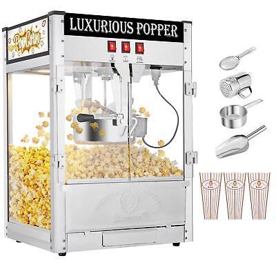 Zokop Commercial 8oz Hot Oil Popcorn Maker With Non-stick Kettle Retro Light