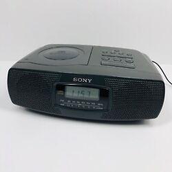 SONY CD Compact Disc Clock Radio Alarm - Model No. ICF-CD820 (F)