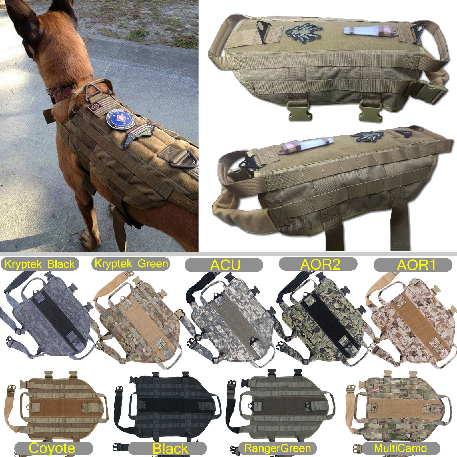 Desert Camo Service Dog Vest