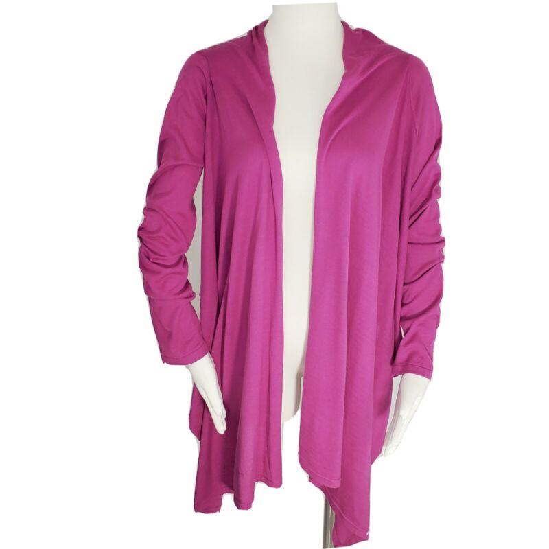 Garnet Hill Fuscia Silk Blend Cardigan Sz XS