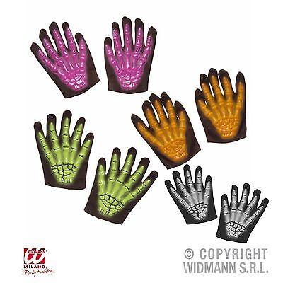 Skelett Handschuhe Kinder 3D Neon / nachtleuchtend Karneval Fasching Halloween
