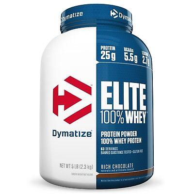 Dymatize ELITE 100% WHEY PROTEIN 5 lbs - 63 Servings - PICK