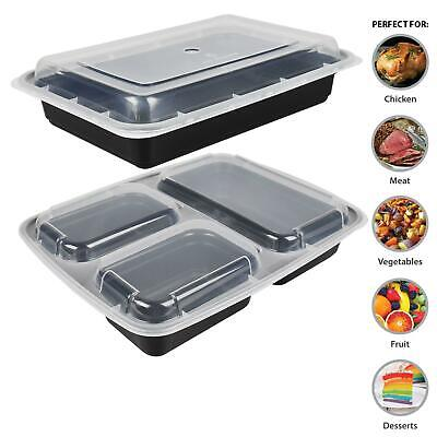 10 Pk Meal Prep Food Container Microwave Bpa Free Plastic Lunch Box Stackable