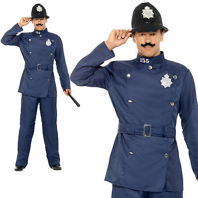 Policeman Cop Adult Mens Halloween Fancy Dress Outfit (Bobby Halloween)