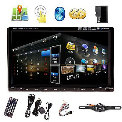 "Sony Lens 7"" In Dash Double 2 Din Car DVD Player GPS Navigation 3D Bluetooth TV on Rummage"