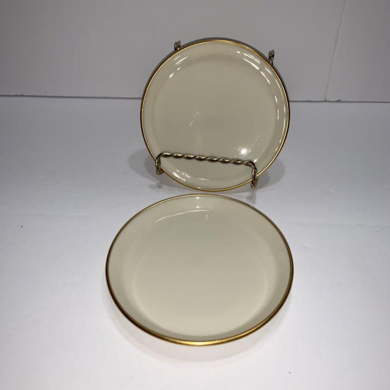 "Set of 2 Lenox ETERNAL SPECIAL Coasters Butter Pat Plates 4"" Diameter USA Made"