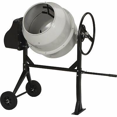 Klutch Portable Electric Cement Mixer - 6 Cu. Ft. Drum