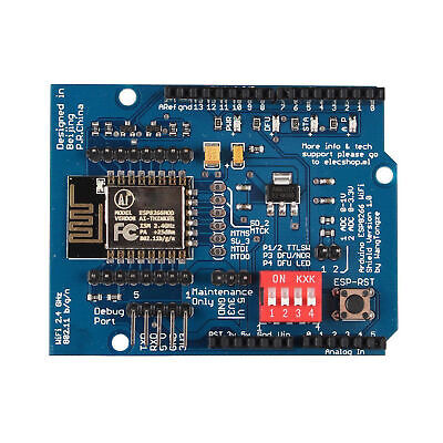 Esp-12e Esp8266 Uart Wifi Wireless Shield For Arduino Uno R3 Good Quality New