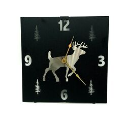 Rustic Western Deer Wall Clock Home Accent Decor Metal Lazart Cabin Lodge Ranch