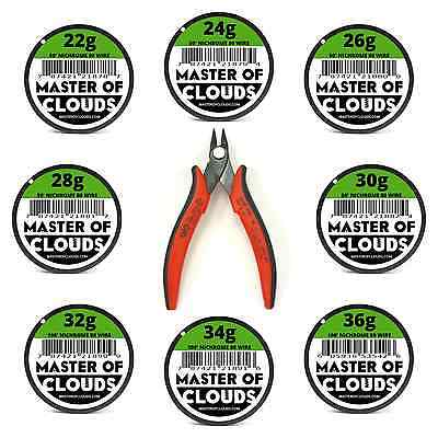 Wire Cutters W Mixed 550 Feet Of Nichrome 80 Wire 2224262830323436 Gauge