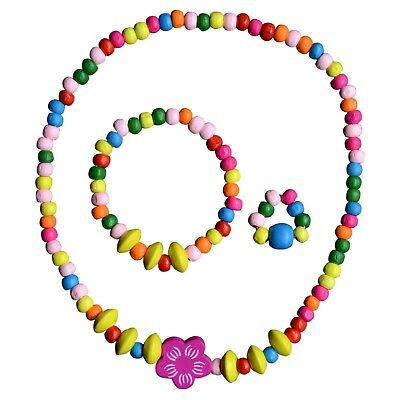 Toddler Play Jewelry - Stretch Necklace, Ring and Bracelet Set for Little Girls](Necklaces For Little Girls)