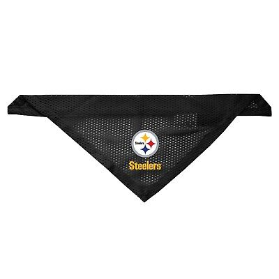 - NEW PITTSBURGH STEELERS DOG CAT MESH JERSEY BANDANA 2 SIZES LICENSED