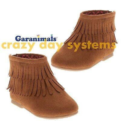 NEW Garanimals Pocahontas Boots Zip Brown Moccasins  Sizes 3 4 5 6 Infant Girls - Baby Pocahontas