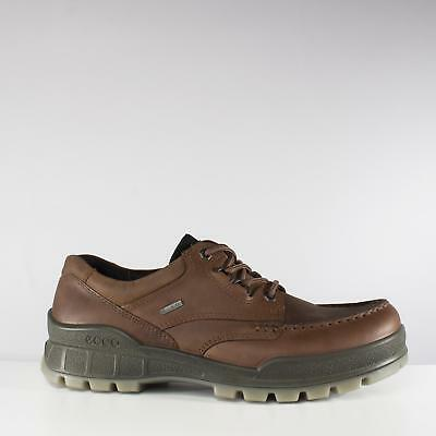 7ad961bef7e225 ECCO TRACK 25 Mens Leather Waterproof Lace Up Moccasin Walking Shoes Bison  Brown фото