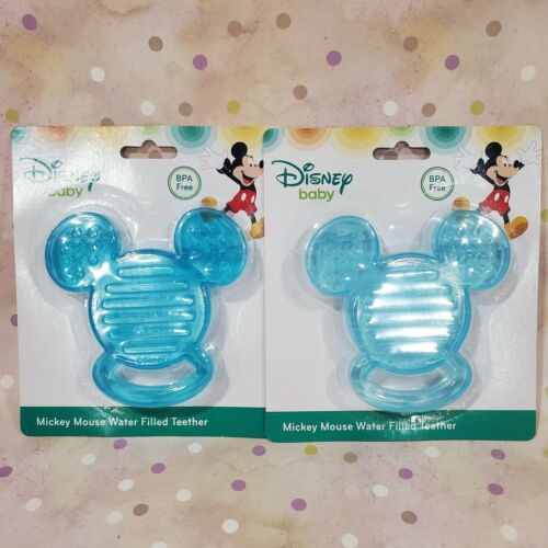 (2) Disney Baby Mickey Mouse Water Filled Teethers   NEW