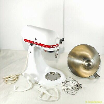 KitchenAid Ultra Power 300 Stand Mixer KSM90WH Bowl & Attachments/10 Speeds