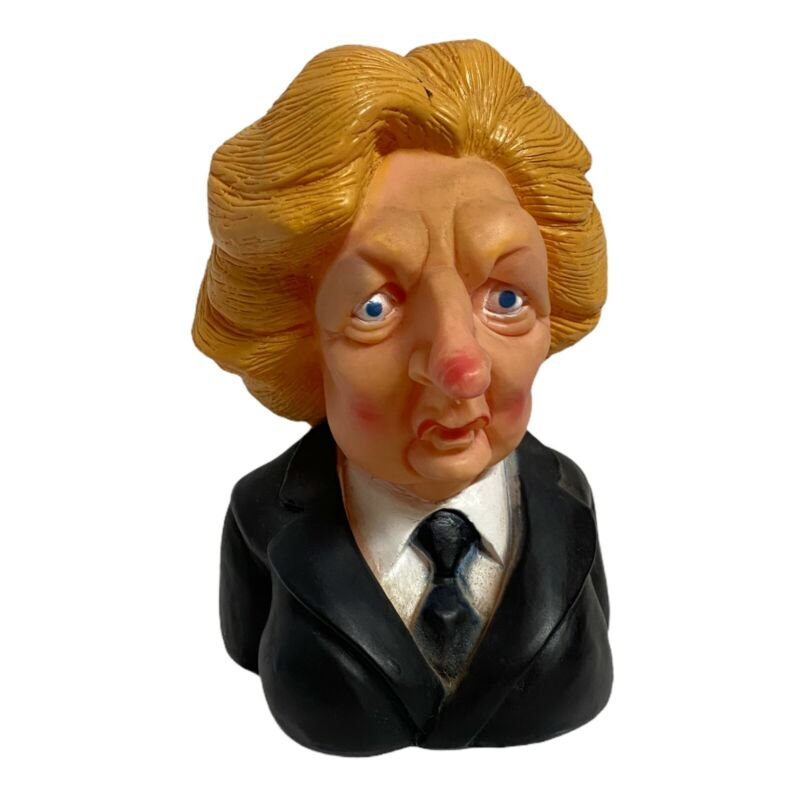 Vintage 1984 Spitting Image Margaret Thatcher Rubber Dog Chewy Toy World