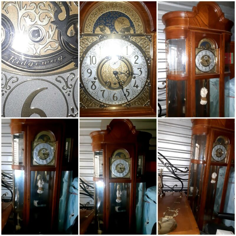 Ridgeway Richardson I I Curio Grandfather Clock Model 9702 perfect condition