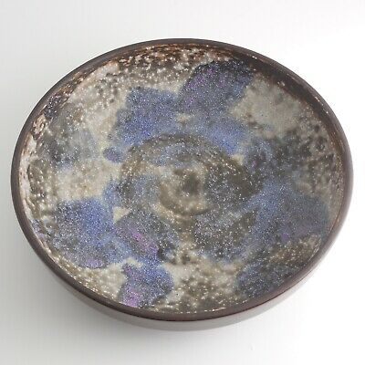 Carstens Tonnieshof Fat Lava Pottery Bowl, W. Germany, Mid Century, Signed