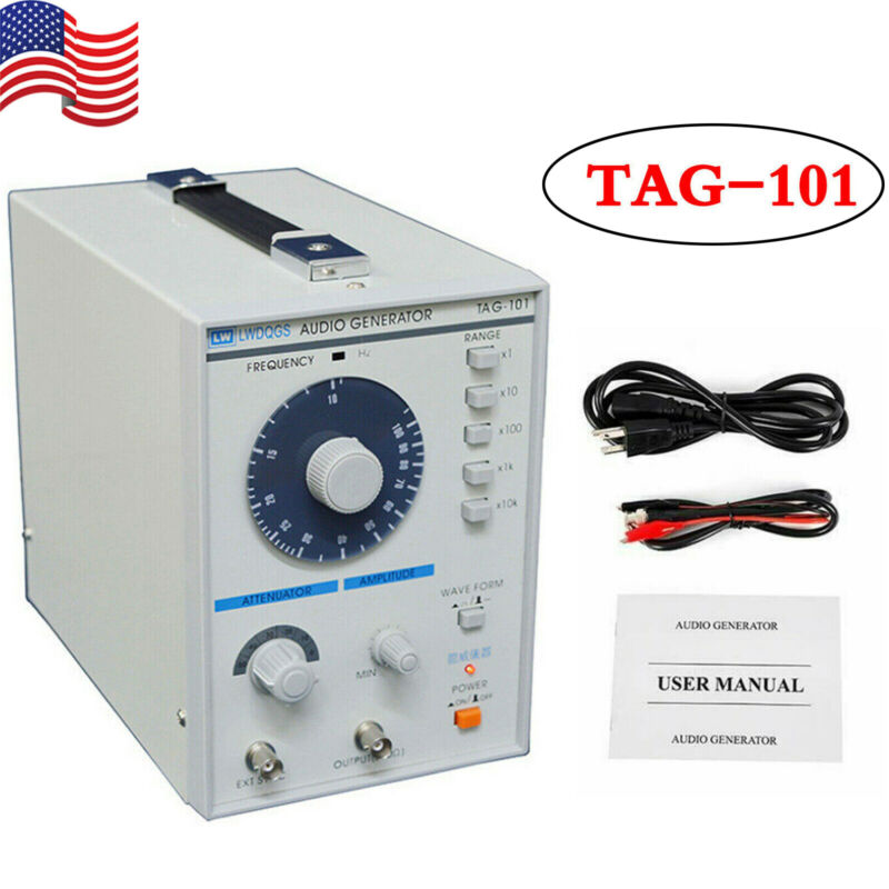 Low Frequency Audio Signal Generator Signal Source 10Hz-1MHz TAG-101 110V 5W