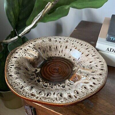 vintage retro 1970's Haeger ceramic mid century modern style marble ashtray