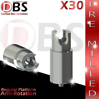 30x Dental Abutment Pre-milled Screw With Hex Amann Girrbach Mis Rp