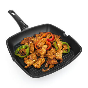 Savisto Non-Stick Cast Aluminium Griddle Grill Pan for All Hobs Inc. Induction