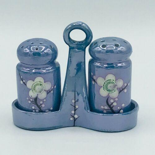 Vintage Iridescent Hand Painted Salt & Pepper Shakers, Porcelain, Made in Japan