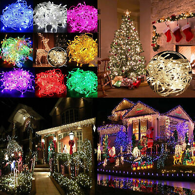 Outdoor Solar Powered Fairy Lights LED Waterproof Christmas Tree Decor Lamp US ()