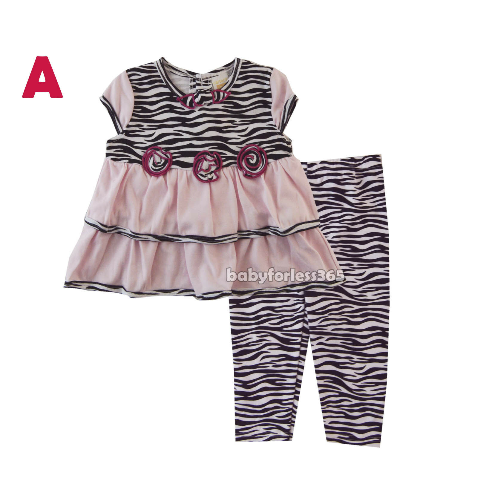 83239109cb8f New Carter's Baby Girls Outfit Clothes 2 pcs top legging 3 6 9 12 18 24  months