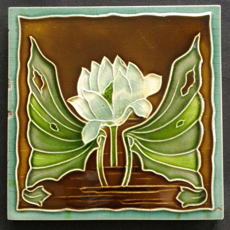 Rare Art Nouveau Tile. Henry Richards. C1903