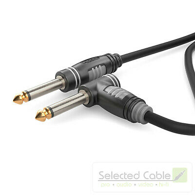 SOMMER CABLE Basic 3m Instrumentenkabel 6,3mm Klinke abgewinkelt | HBA-6M6A-0300