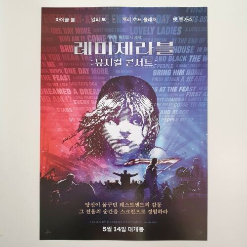 Les Miserables The Staged Concert A4 Korean Movie Flyer Mini Poster Wall Art