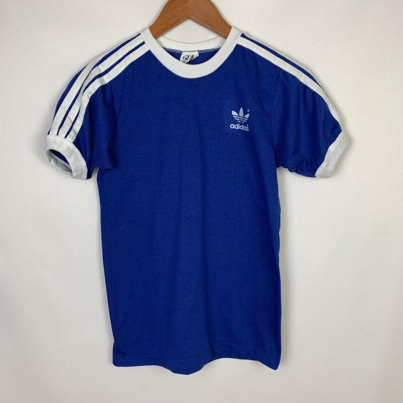 Vintagel Single Stitch Adidas Trefoil Ringer Baseball T-shirt Youth Size Large