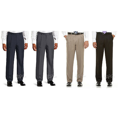 NWT SAVANE Microfiber Performance Comfort Waist Wrinkle Free Men Dress Pants (Microfiber Dress Pants)