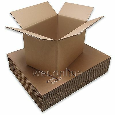 10 Thick Strong Sturdy Storage Postal Packaging Cardboard Boxes 18 x 12 x 12