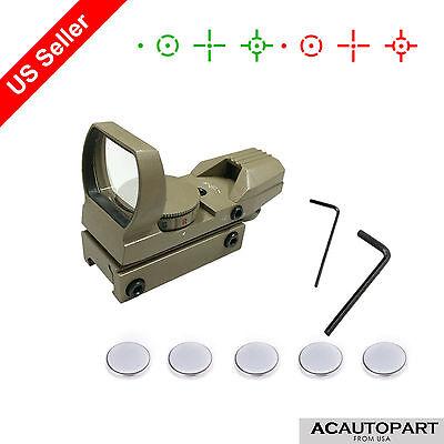 Reflex Dot Sight Scope Tactical Tan Multi Red Green Dot Open Tubeless 4 Reticle
