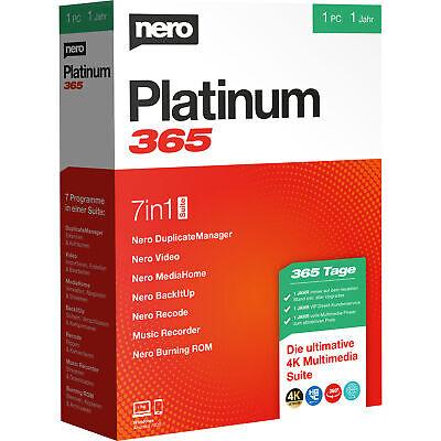 Nero AG Platinum 365, deutsch