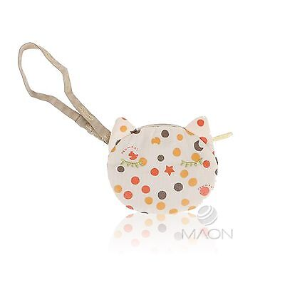 LeSportsac Tsumori Cat Wristlet Pouch in Cats Dots Beige
