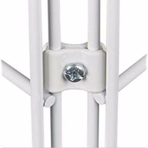 Gridwall Joining Connectors - Grid Panel Joiner Clips - White - 40 Pieces
