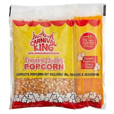 24 Case All-in-one Concession Stand Popcorn Kit For 12 Oz. To 14 Oz. Popper