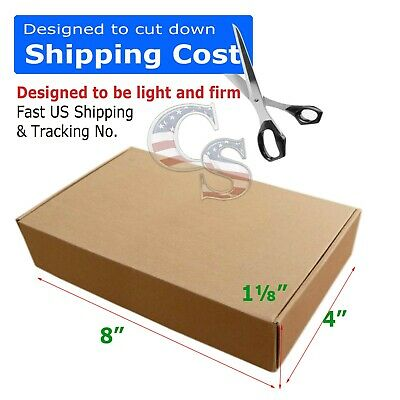 100 8x4x1 Cardboard Packing Mailing Moving Shipping Boxes Corrugated Cartons