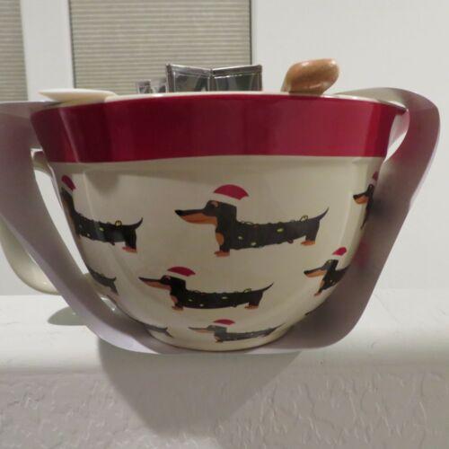 Dachshund 7 Piece Christmas Mixing Bowl Jug Spatulas Utensil  - The Bakeshop NEW