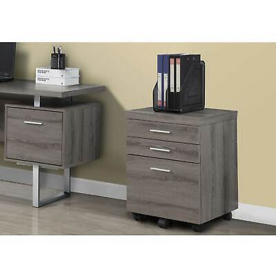 Monarch Home Office Furniture 3 Drawer Wood Filing Storage Cabinet Open Box