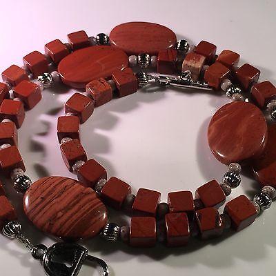 Red Jasper Heart Necklace - Necklace Red Jasper 22