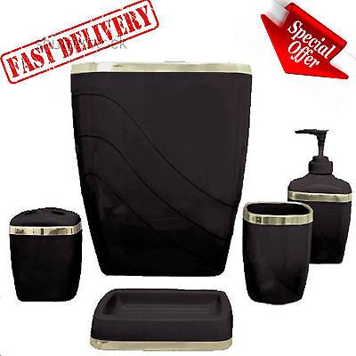 - Bathroom Soap Dispenser Set Accessories Plastic Tumbler Bath Toothbrush Holder