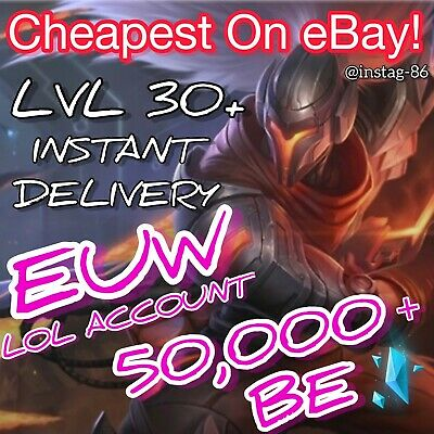 League of Legends Account EUW LOL Smurf 50,000+ BE IP Level 30...
