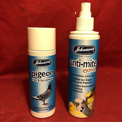 2 Pigeon Rid Mite Flea Lice Parasite Spray Powder Permethrin Lasting Protection