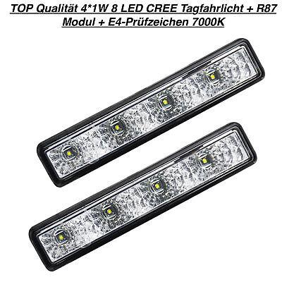 TOP Qualität 4*1W 8 LED CREE Tagfahrlicht + R87 Modul + E4-Prüfzeichen 7000K (25