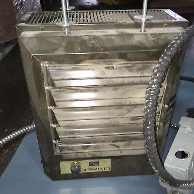 Berko Horizontal Down Flow Unit Heater Huhaa524 5kw At 240v 1-3 Phase